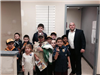 Mayor Posing With Children at Police Department