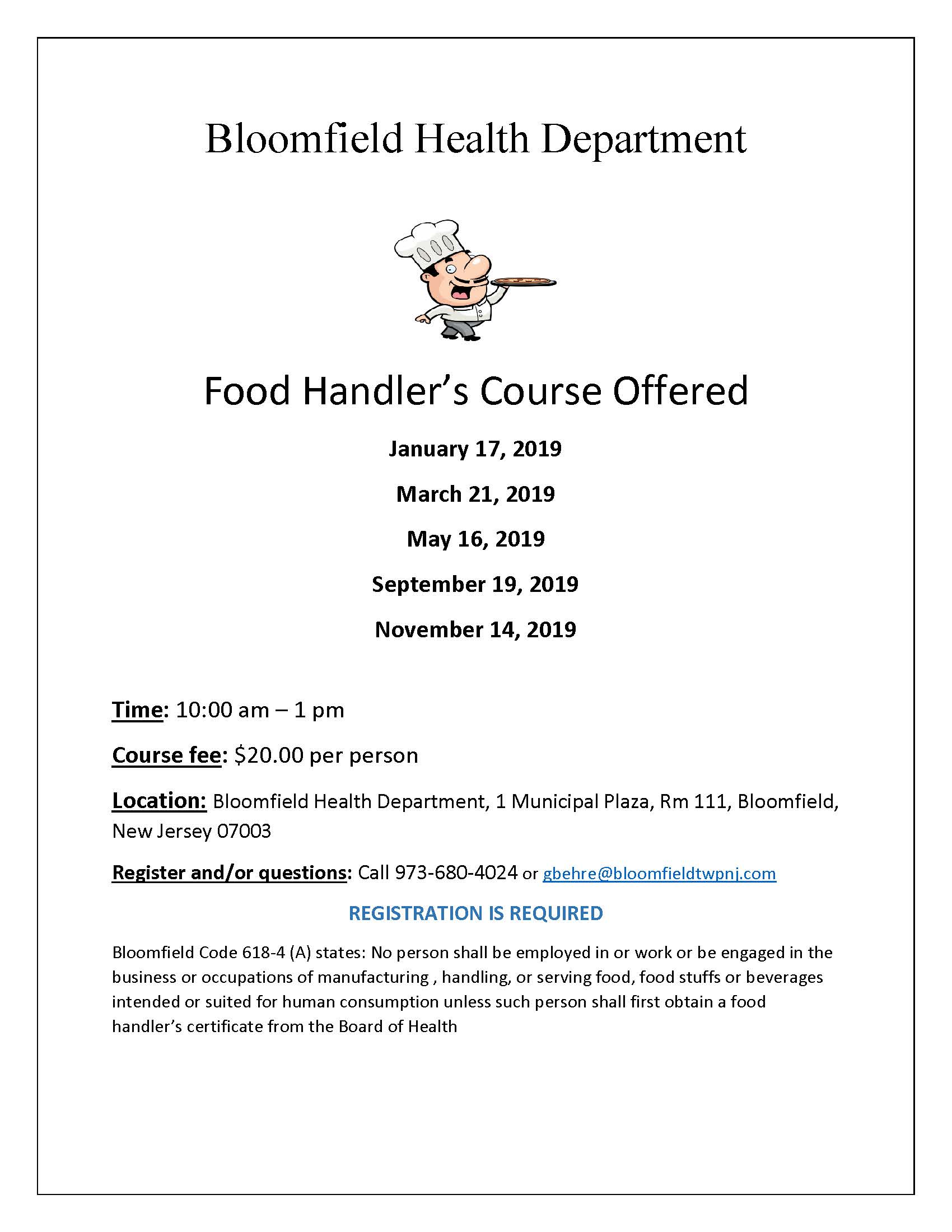 Food Handlers Flyer 2019