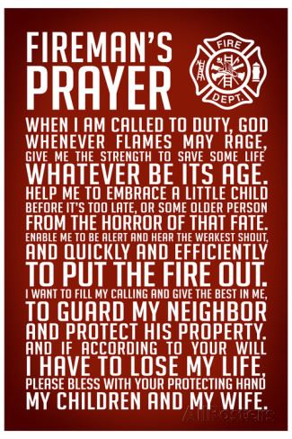 Firemans Prayer