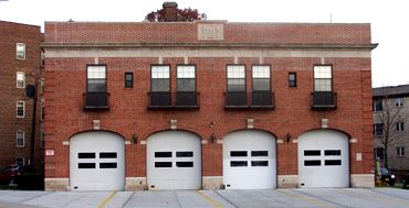 Front View of Fire Headquarters