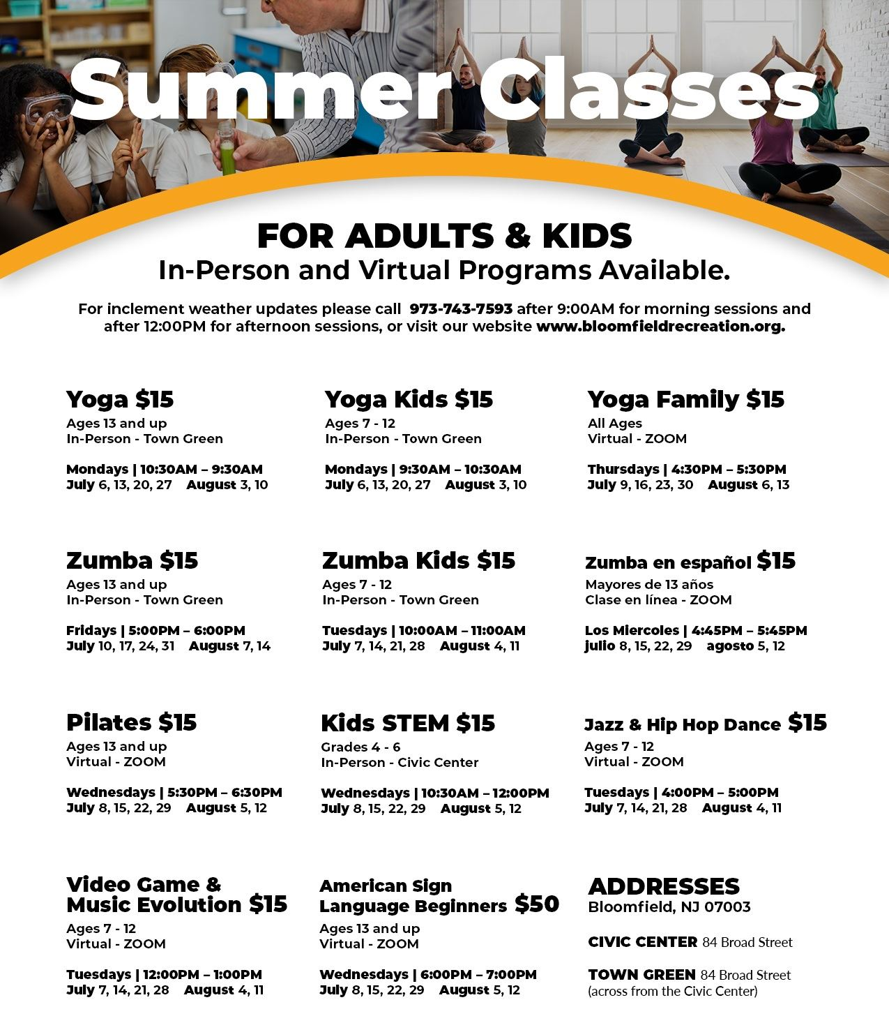 summer classes website