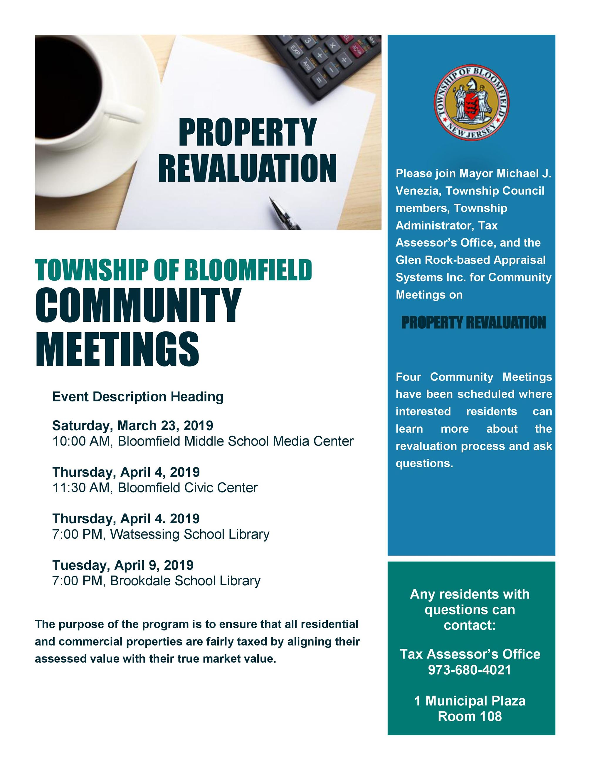 Property Reval Meetings