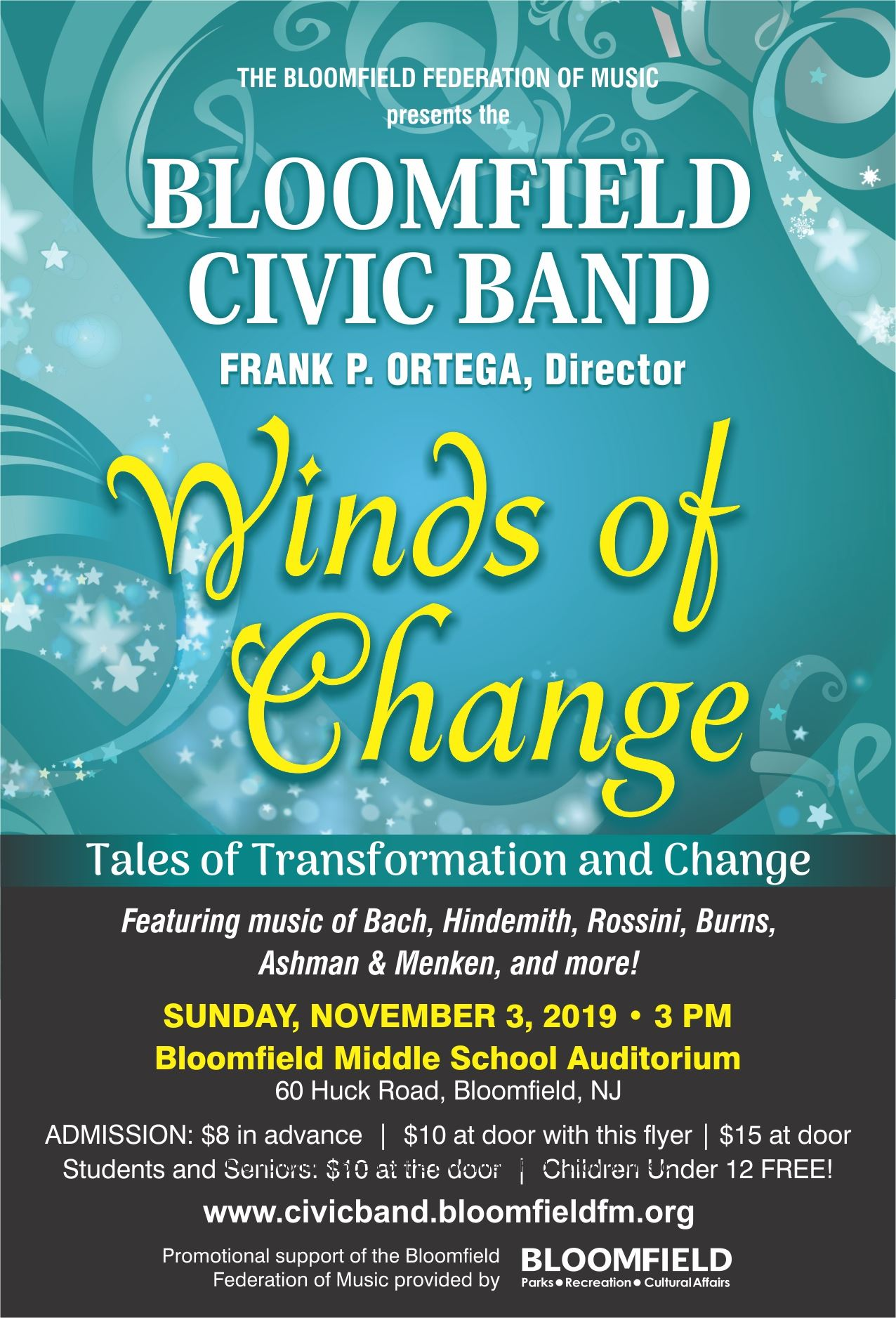 Bloomfield Civic Band 11-3-19 Flyer