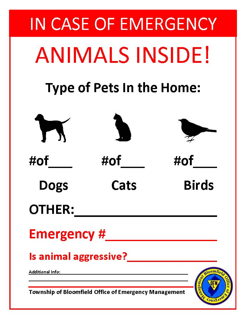 In Case of Emergency, Animals Inside